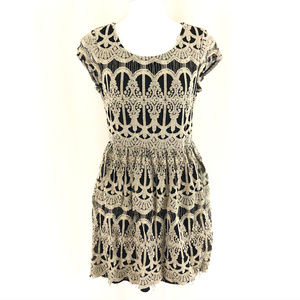 Maurices Mini Dress Lace Overlay A Line Fringe M